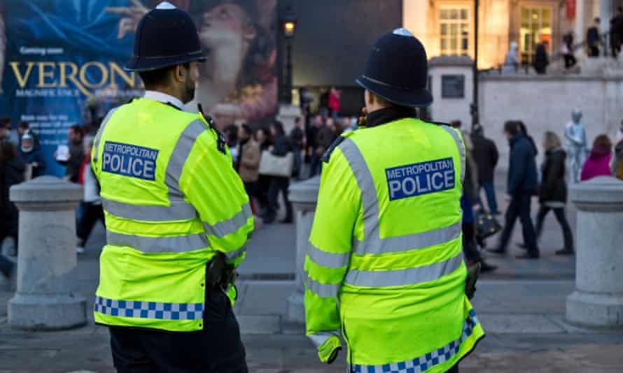 Met police officers patrolling the streets of London