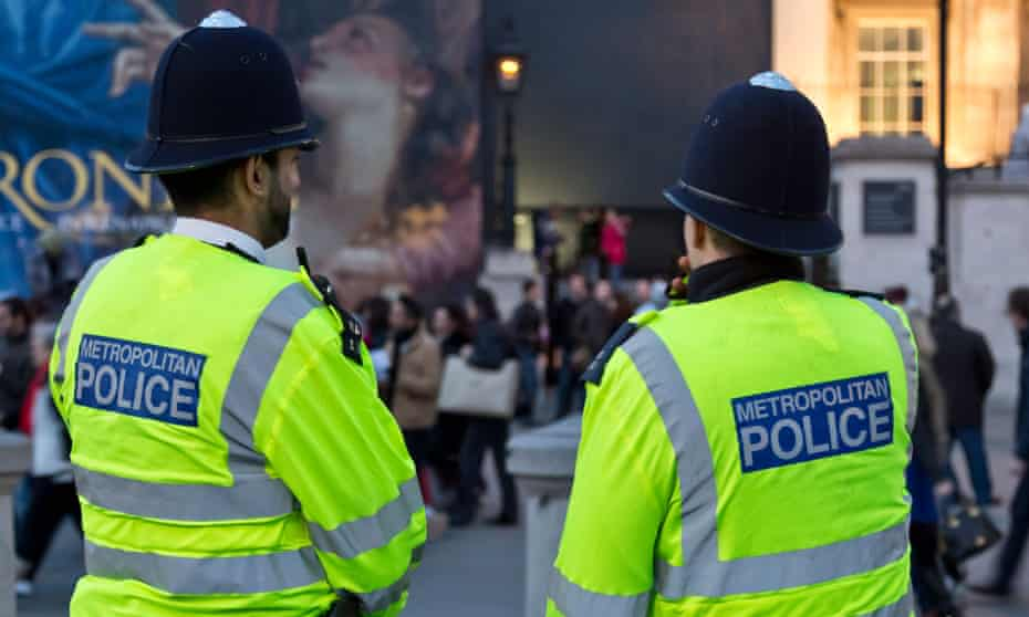 Metropolitan police officers in London.