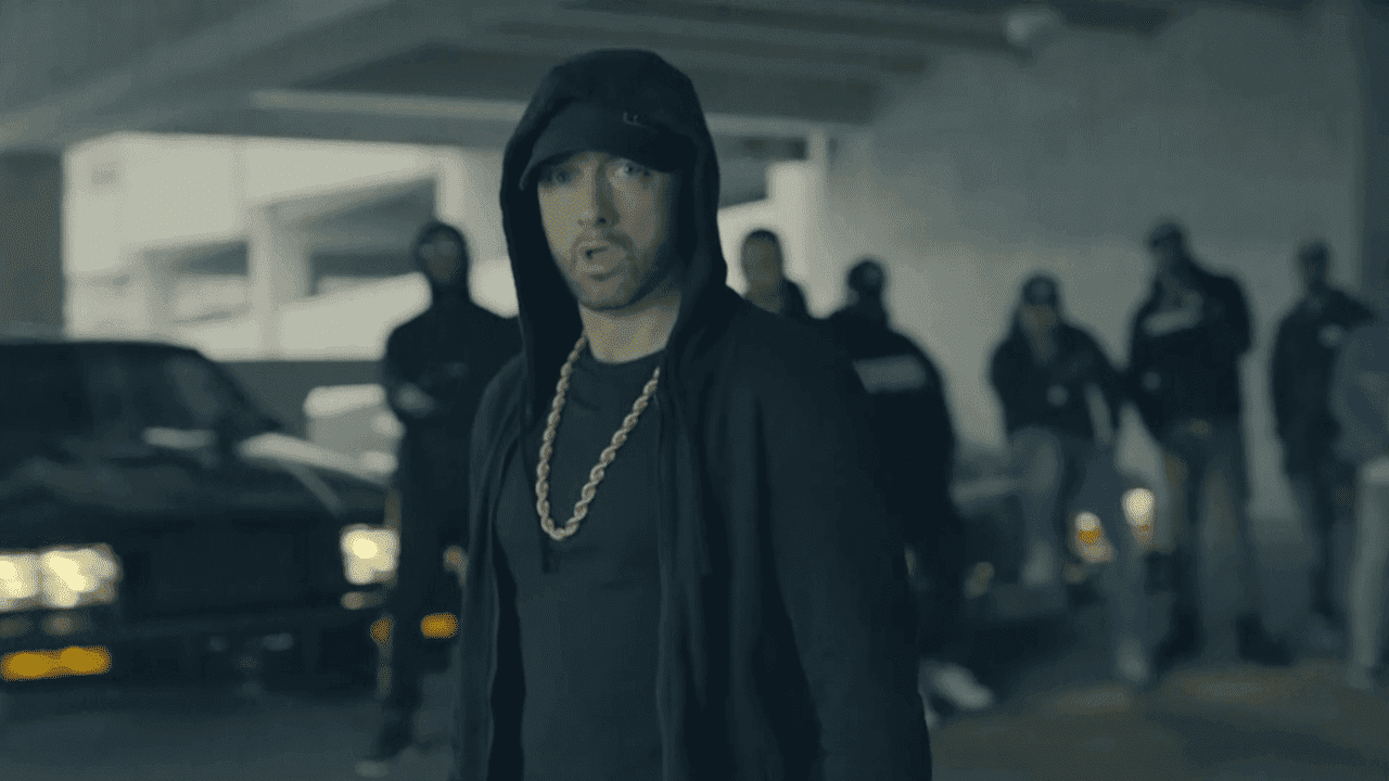 Eminem lambasts Donald Trump in freestyle rap – video