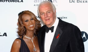 Givenchy with the model Iman in Cannes, 2002.