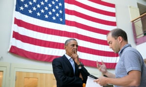 Ben Rhodes with Barack Obama in 2014. The Rhodes family says it was the target of spying attempts.