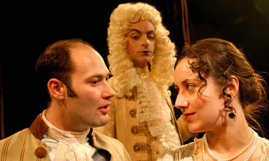 The 2004 production of Masks and Faces at the Finborough, starring Asa Joel, Thomas Power and Charlotte Pyke. The play has been revived on Zoom.