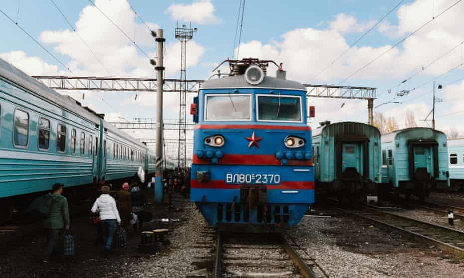 A Russian locomotive