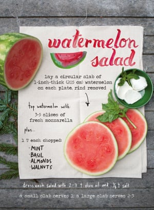 a dessert (or maybe even another starter?): watermelon salad.