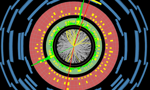Higgs to 2e2μ candidate event recorded by ATLAS at the CERN LHC in 2017 (run=328263, event=953423990).