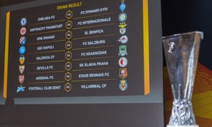 The full draw for the Europa League's last 16.