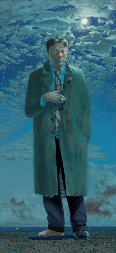 Tim Storrier's portrait of McLean Edwards, The Lunar Savant