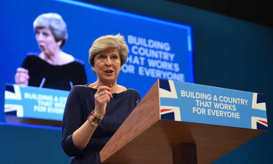 Theresa May at Conservative party conference, 2017