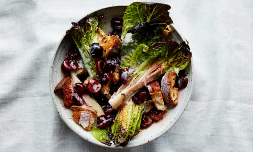 Anna Jones's roasted cherry salad with buttermilk dressing.