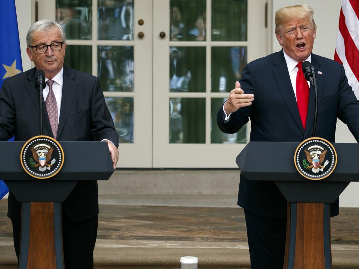 Trump And Eu Officials Agree To Work Toward Zero Tariff Deal