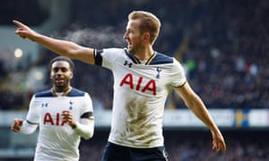 Harry Kane scored a hat-trick to take his total to 13 goals in 16 Premier League matches this season.