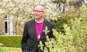 Paul Bayes, Bishop of Liverpool, in his garden