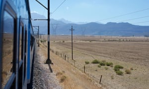 A view from the train between Johannesburg and Cape Town in South Africa