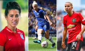 (Left to right): Reading's evergreen Fara Williams; Chelsea's matchwinner Beth England; Manchester United's new Dutch international Jackie Groenen.