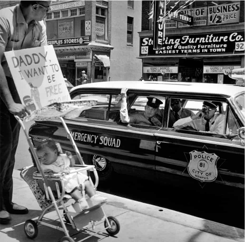 Daddy, I Want to Be Free Too: William Edwin Jones pushes daughter Renee Andrewnetta Jones during a protest march in Memphis, August 1961.