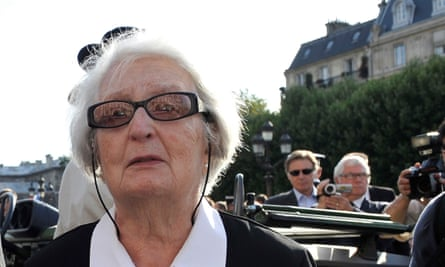 Cécile Rol-Tanguy at the the ceremony marking the 65th anniversary of the liberation of Paris from Nazi occupation in 2009.