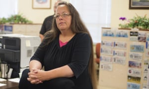 Kim Davis, the Rowan County Clerk of Courts, refused to issue marriage licenses to same sex couples citing her religious beliefs.