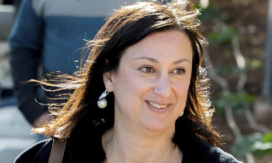 Daphne Caruana Galizia, who was killed by a car bomb in Malta in October 2017