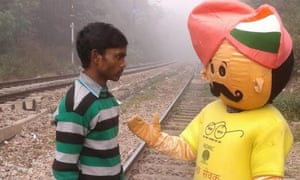 New Delhi council is deploying 28 mascots to watch for people relieving themselves in public.
