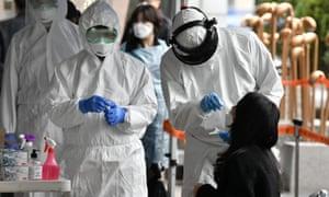 A virus test facility in Seoul, South Korea
