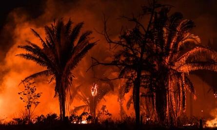 Fires burn in Pará state, Brazil, in September