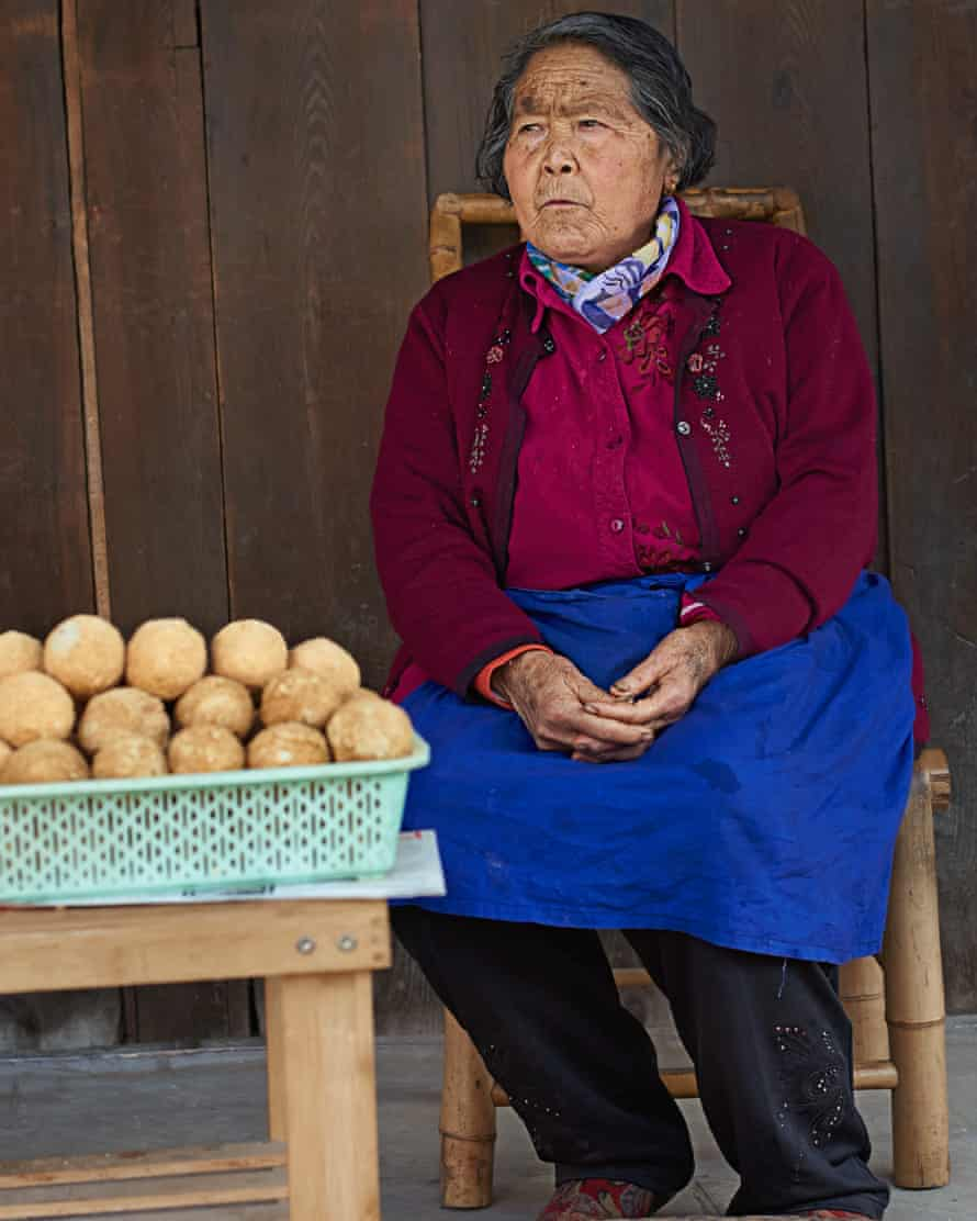 Biru Wang, 78, the town's supplier of pidan, or thousand-year-old eggs, an ancient Chinese delicacy dating back to the Ming Dynasty, China