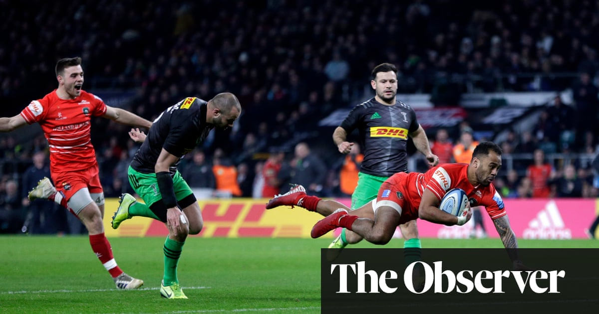 Telusa Veainu completes Leicester's comeback for draw against Harlequins