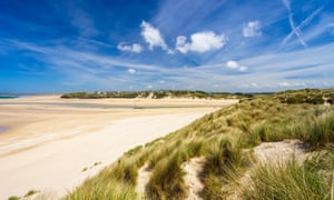 View from the dunes at Porthkidney Sands.