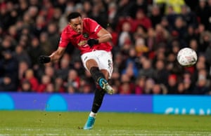 Martial shoots straight to the keeper.