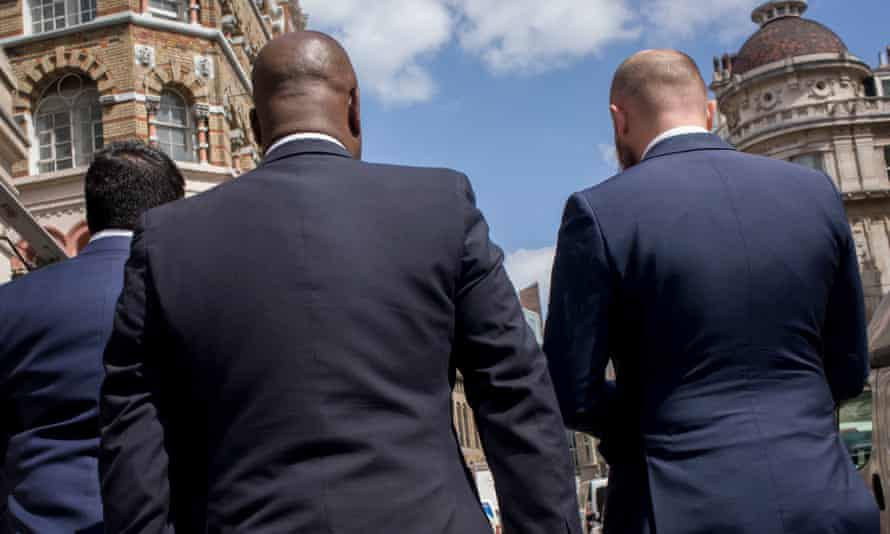 Men in suits in London