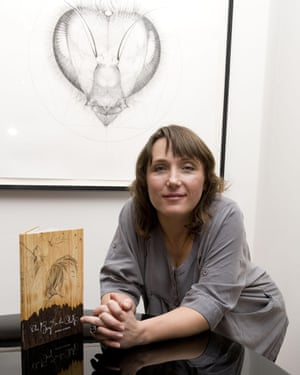 Albarn at the launch for her illustrated book, The Boy in the Oak.