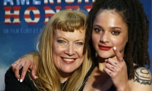 American Honey director Andrea Arnold, left, with star Sasha Lane.