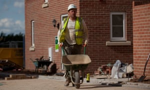 Construction On A Persimmon Plc Housing Development As House Prices RiseA builder pushes an empty wheel barrow at a Persimmon Plc construction site for residential housing in Salisbury, U.K., on Wednesday, Sept. 19, 2012. Persimmon, the U.K.'s largest homebuilder by market value, widened its operating margin to 12.2 percent in the first half from 9 percent a year earlier. Photographer: Simon Dawson/Bloomberg via Getty Images EMEA; EUROPE|EAME; EUROPE; BRITAIN; ESTATE; PROPERTY; HOUSING|CONSTRUCTION; PROPERTY; INDUSTRIAL|ECONOMY; ECONOMIC;