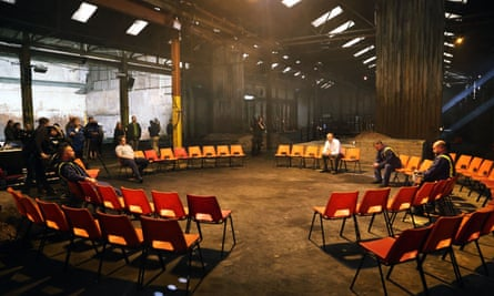 A rehearsal for We're Still Here.