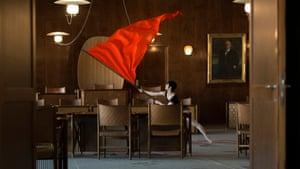 Jasmina Cibic. Nada: Act II (2017), single channel HD video, stereo, 13 min 01 sec, film still, courtesy of the artist Film London Jarman Award Shortlist 2018