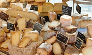 Market stall with French cheeses
