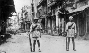 Amritsar during the riots that broke out after the massacre in 1919,