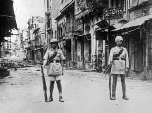 The streets of Amritsar during the riots that broke out after the massacre, 1919.