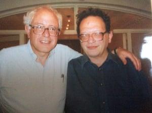 With Bernie.