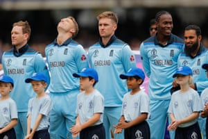 England lined up for the national anthems with a weight of expectation on their shoulders. They were the pre-match favourites, world No 1 and tournament hosts
