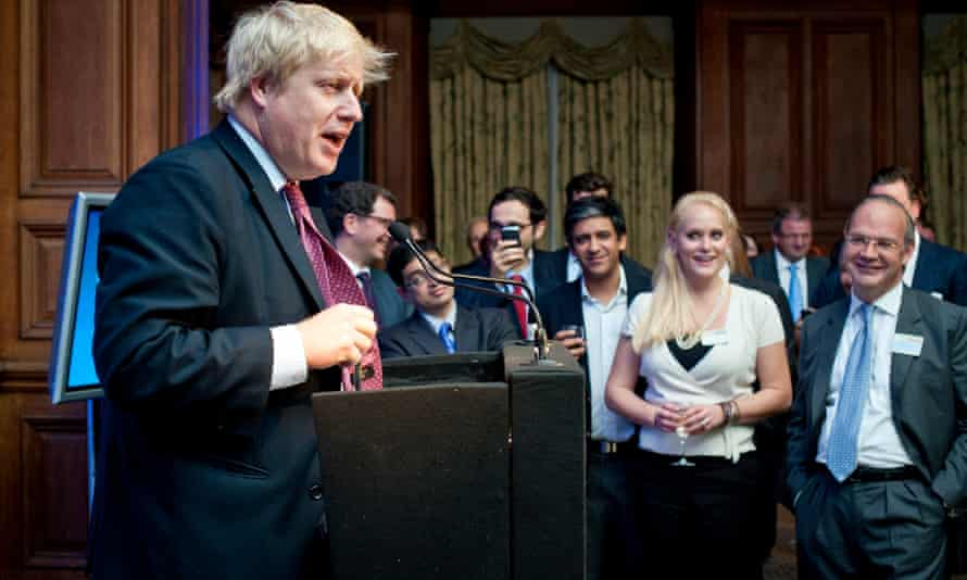 Jennifer Arcuri has said she blagged her way into a gathering of venture capitalists when she first met Boris Johnson in 2011.