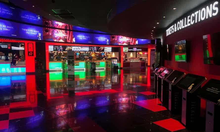 A cinema foyer at a Cineworld site