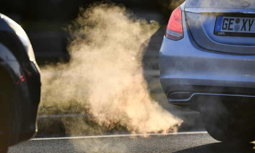 Fumes from a car exhaust pipe