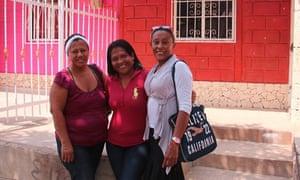 Everledis Almanza, Lubis Cárdenas Viola and Yajaira Mejía Pinto in the City of Women