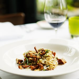 A hearty dish such as an eggplant curry or mushroom risotto.