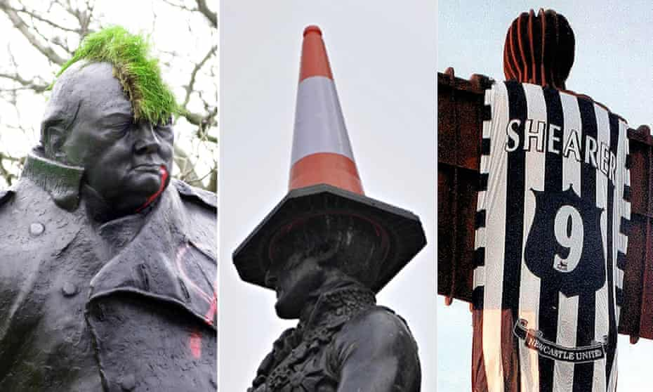 Winston, Wellington and the Angel of the North.