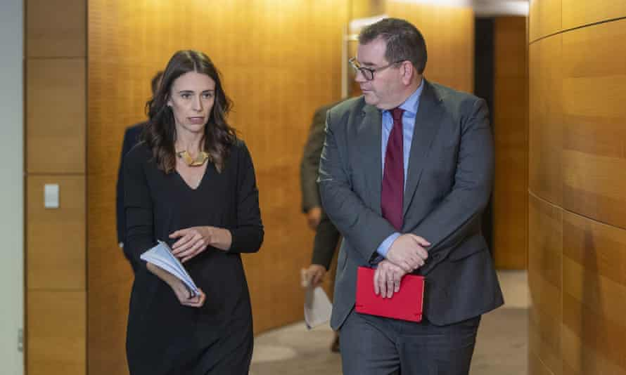 New Zealand Prime Minister Jacinda Ardern with Finance Minister Grant Robertson