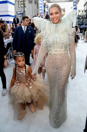Beyonce Knowles and daughter Blue Ivy Carter