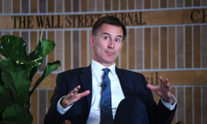 Jeremy Hunt speaking at the Wall Street Journal CEO Council event in London.