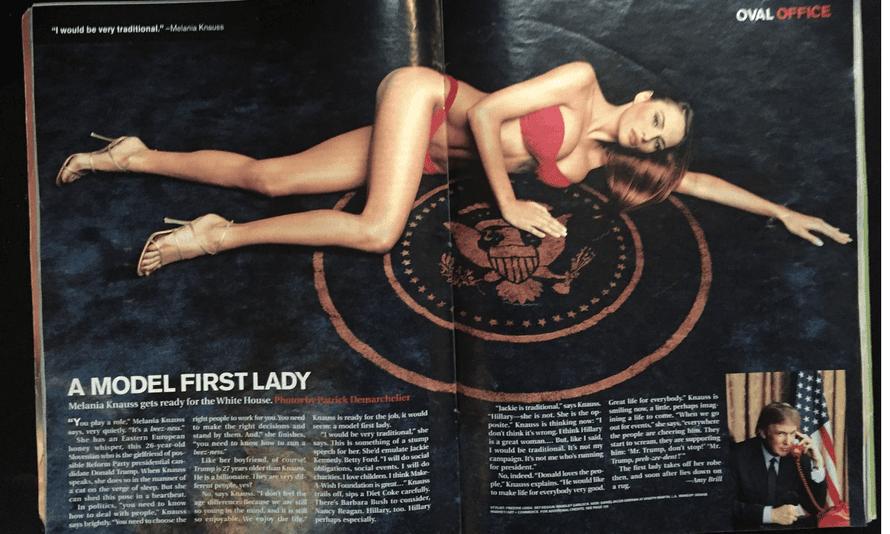 Melania Knauss in Talk magazine in 2000.
